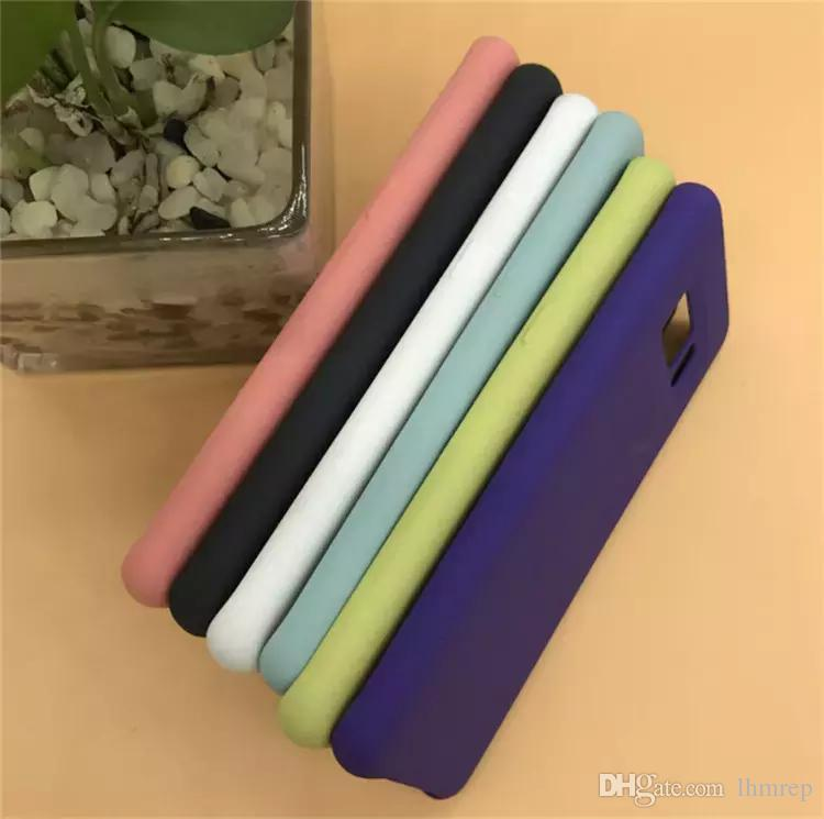 Coque en silicone style 1: 1 pour Samsung Galaxy S8 S8 Plus, style original, coque avec logo, couleur du logo original + boîte