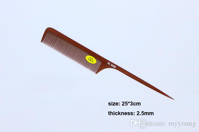 Hot Sale Hair Styling Wood Tail Combs Anti Static Professional Salon Wide Tine Comb High Quality .