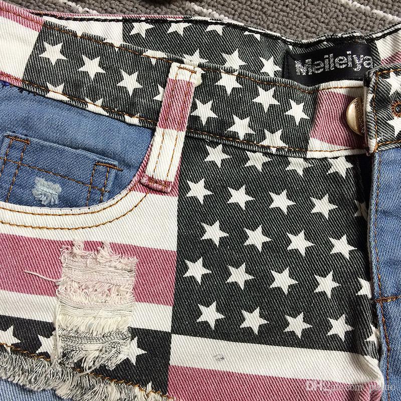 Wholesale- New Sexy Womens Denim Jean shorts Ripped Tassel Hole Short jeans Hot Trousers Beach Summer Bandage Low Waist Girls