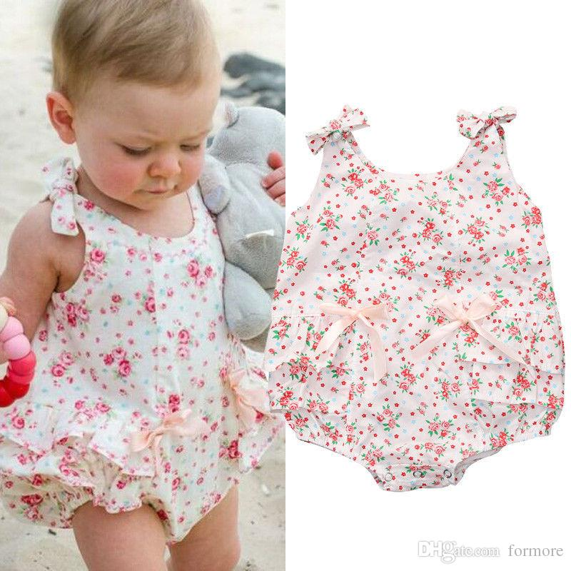 2018 Newborn Baby Girls Clothes Toddlers Romoper Dress