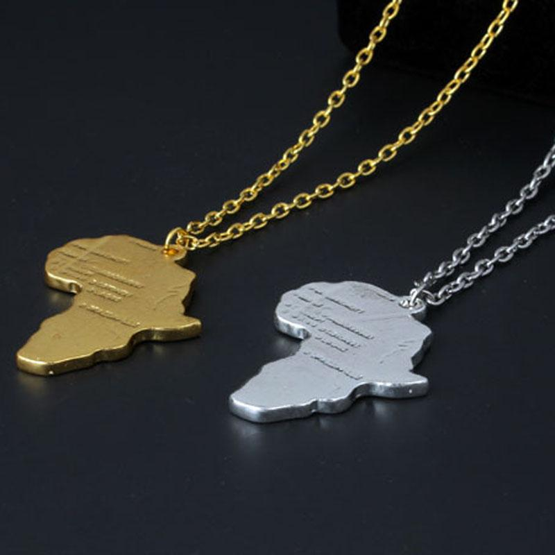 Wholesale silver gold plated african map necklace africa pendant hip wholesale silver gold plated african map necklace africa pendant hip hop necklace jewelry for men women gift drop shipping locket necklace mens necklaces aloadofball Image collections