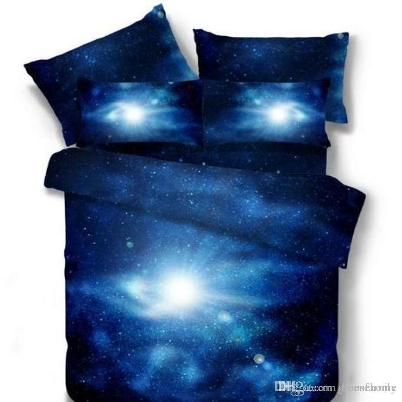 3d universe galaxy bedding sets twinqueen size universe outer space themed bedspread bed linen bed sheets duvet cover set 3d bedding sets galaxy bedding - Galaxy Bedding Set