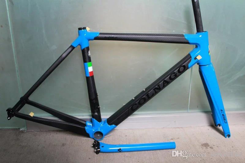 made in china bule color Colnago C60 frame carbon frameset road bike Frame carbon bicycle black color design frameset high quality