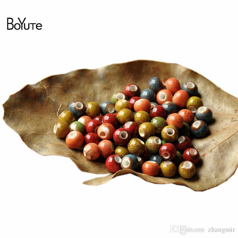 BoYuTe 6 MM Handmade Contas De Cerâmica Porcelana Por Atacado DIY Contas Fazer Jóias Em 6 Cores de Forma Redonda Beads