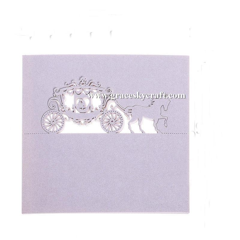 Pearlescent hollow horse Laser cut Wedding Party invitation Table Decor Name Place Cards Table Name Message Greeting Card
