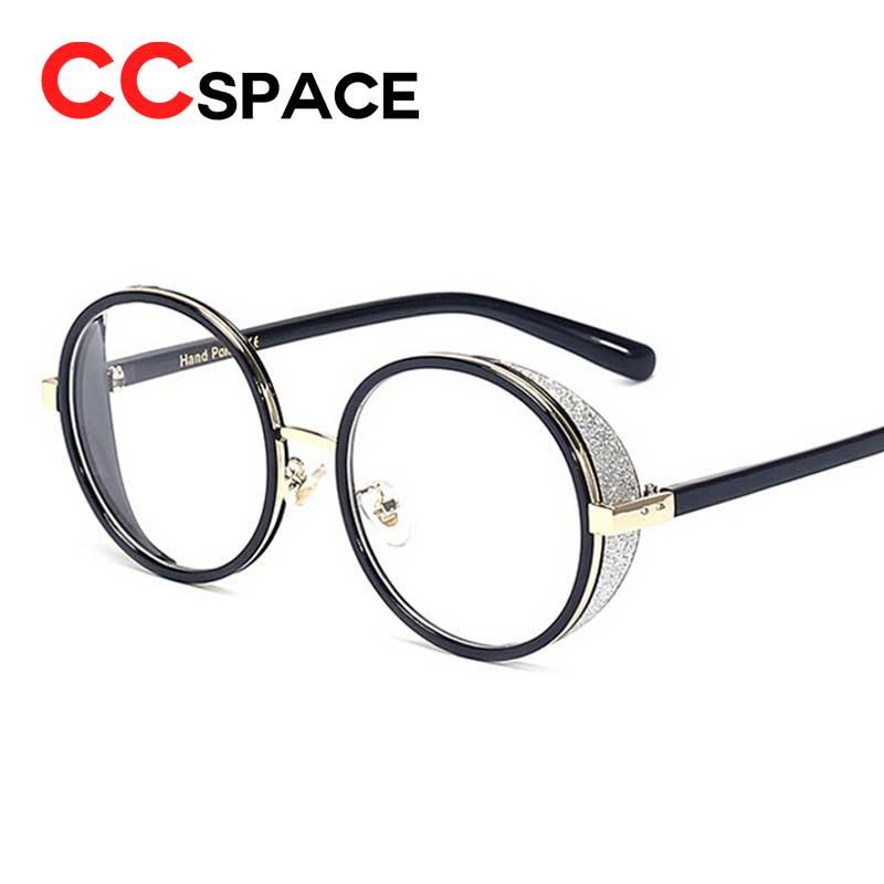 5143898f2c2 Wholesale- CCspace Metal Round Frame Glasses Vintage Luxury Brand ...