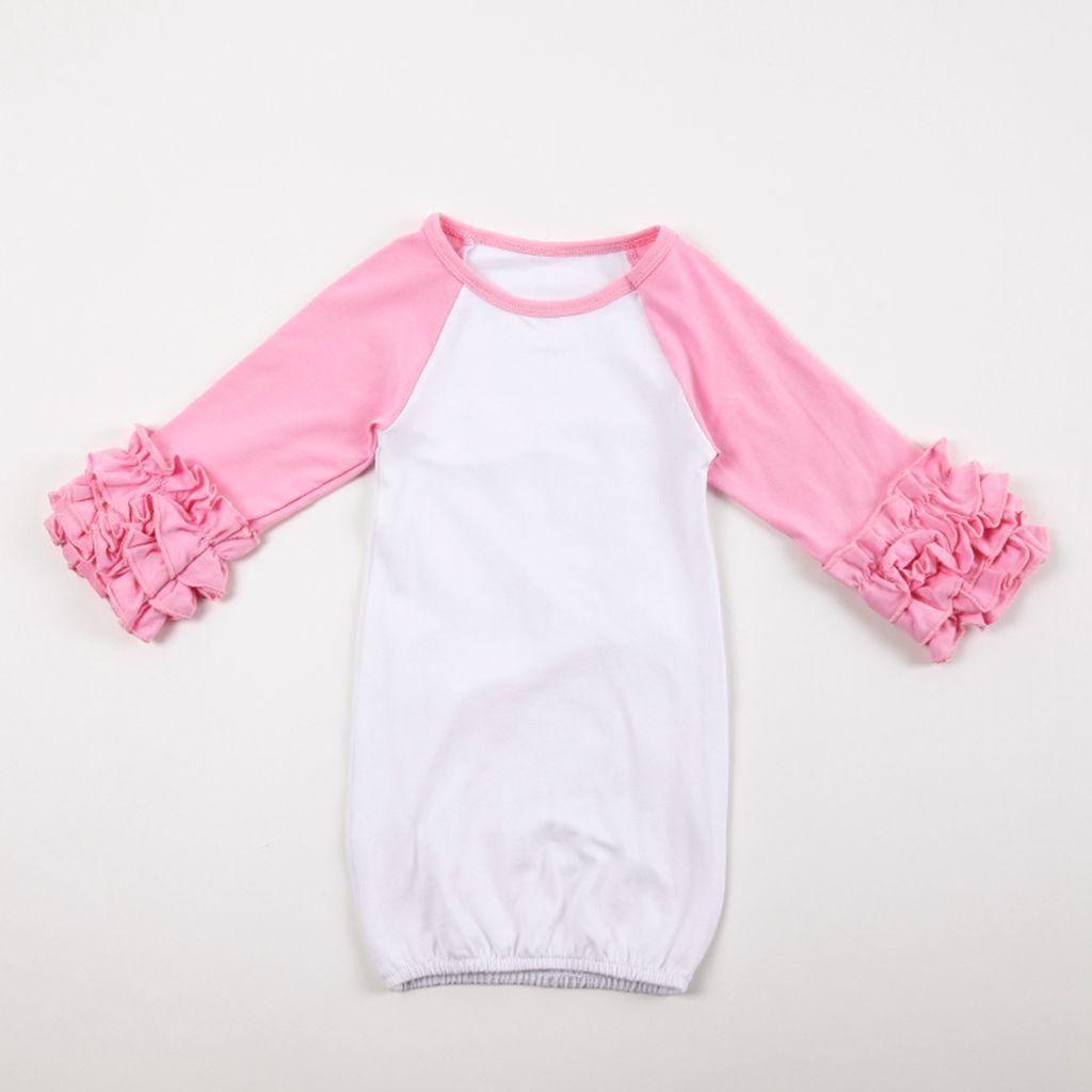 0-2T Infant Girl Boy Sleep Cloth Baby Cotton Gowns Ruffle Reglan ...