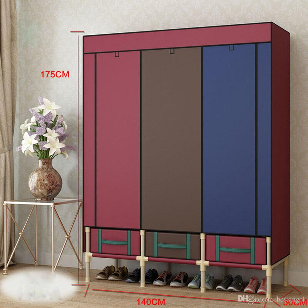 Super Large Reinforced Portable Wardrobe Home Storage Hanger Closet Bold  Creative Armoires Rack New Wardrobe Closet Armoires Online With  $196.72/Piece On ...