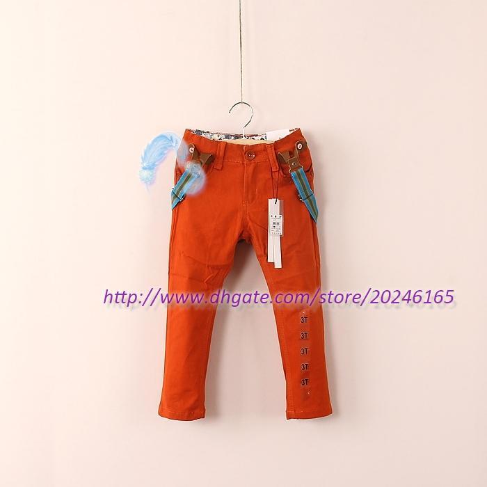 7-8Y jongens brut vetement garcon scherzt Freizeithose mit beiläufigen Hosen der Hosenträger mit Klammern für Jungenhosen Freies Verschiffen