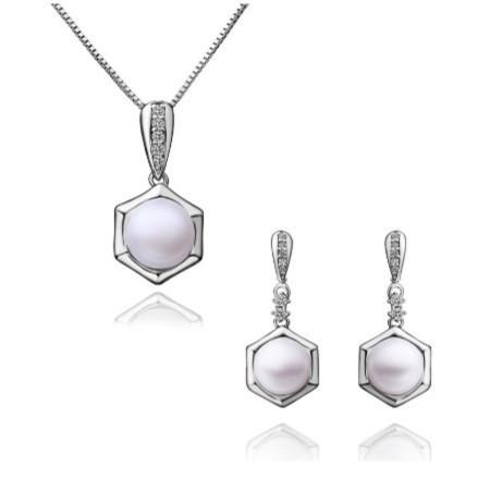 Branco Diamante Pérola Colar Brincos Conjunto De Jóias Da Dama De Honra Nupcial Fine Jewelry Vestidos de Casamento Acessórios Nova Marca