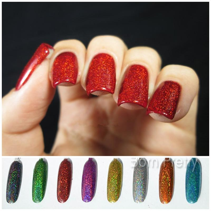 Wholesale 1.5g Bottle Holographic Laser Nail Glitter Powder Rainbow Color Shiny  Nail Glitters Manicure Chrome Pigments Holographic Glitter Nail Products ... d587e41d781b