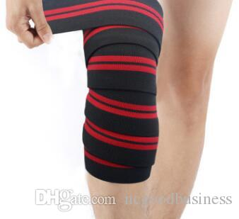 about 2.0m*8cm Weight Lifting Elastic Knee Bandages Leg Compression Calf Support Wraps Sports Squats Training Strap