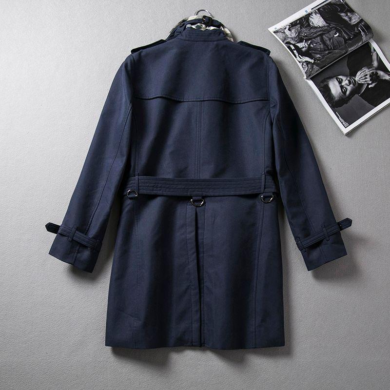 جديد ماركة الملابس الكلاسيكية أزياء الرجال عارضة الأعمال خندق معطف مزدوجة الصدر معطف طويل البازلاء trenchcoat رجل يتأهل