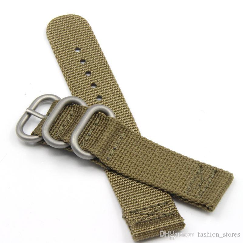 Naranja Caqui alta calidad de nylon correas de reloj OTAN anillo correas para la Rolex 20 mm 22 mm 24 mm envío /