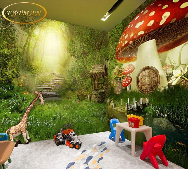 Custom 3D Photo Wallpaper Fairytale Forest Cartoon Decorating Bedroom Kindergarten Mural Papel De Parede On Hd