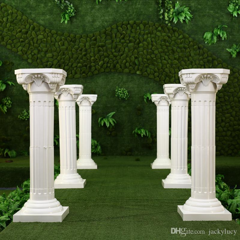 Wedding Flower Pillars: White Plastic Roman Columns Road Cited For Wedding Favors