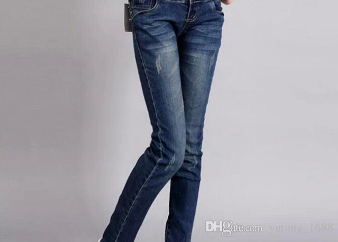 e8d839fd5 Compre Nuevos Jeans De Venta Caliente Mujeres Embarazadas Ropa De Embarazo  Sección Delgada Panza Elástica Pantalones De Maternidad Pantalones De  Maternidad ...