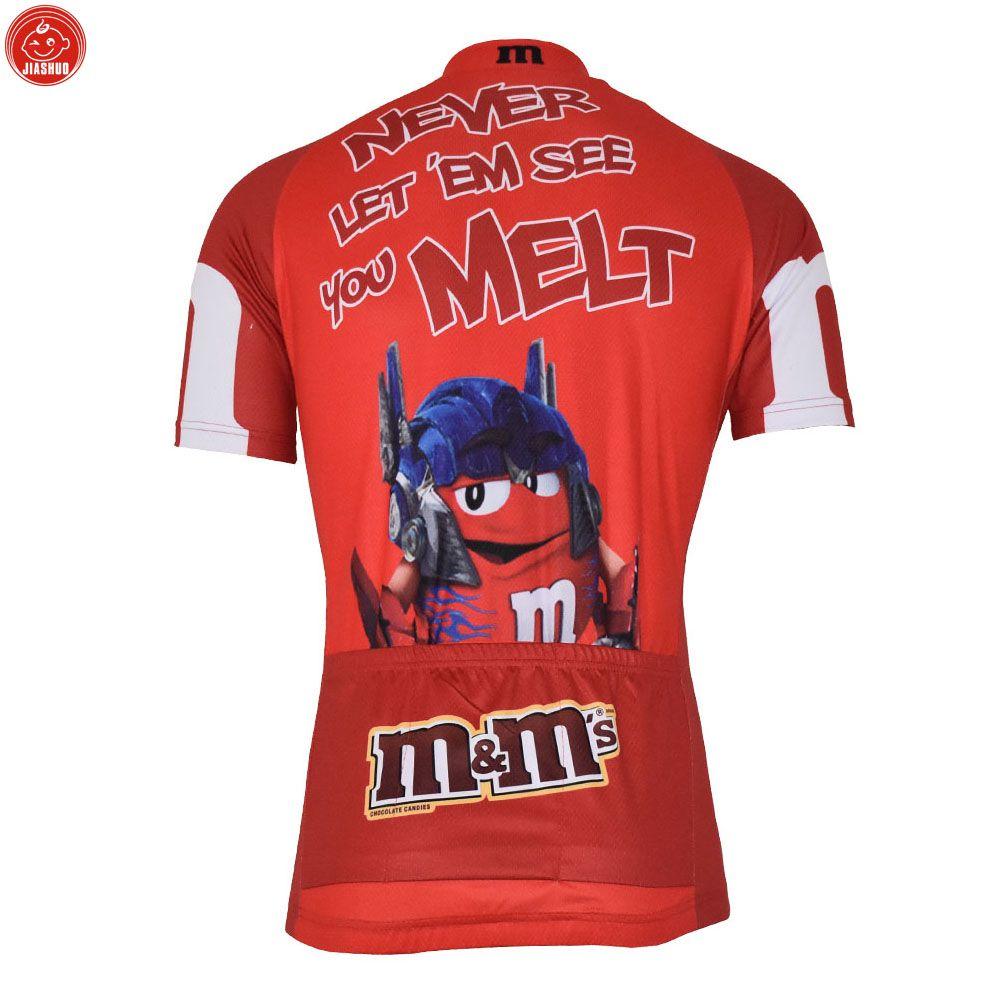 Индивидуальные новый 2017 конфеты мультфильм классический JIASHUO mtb road RACING Team Bike Pro Велоспорт Джерси / рубашки топы одежда дышащая