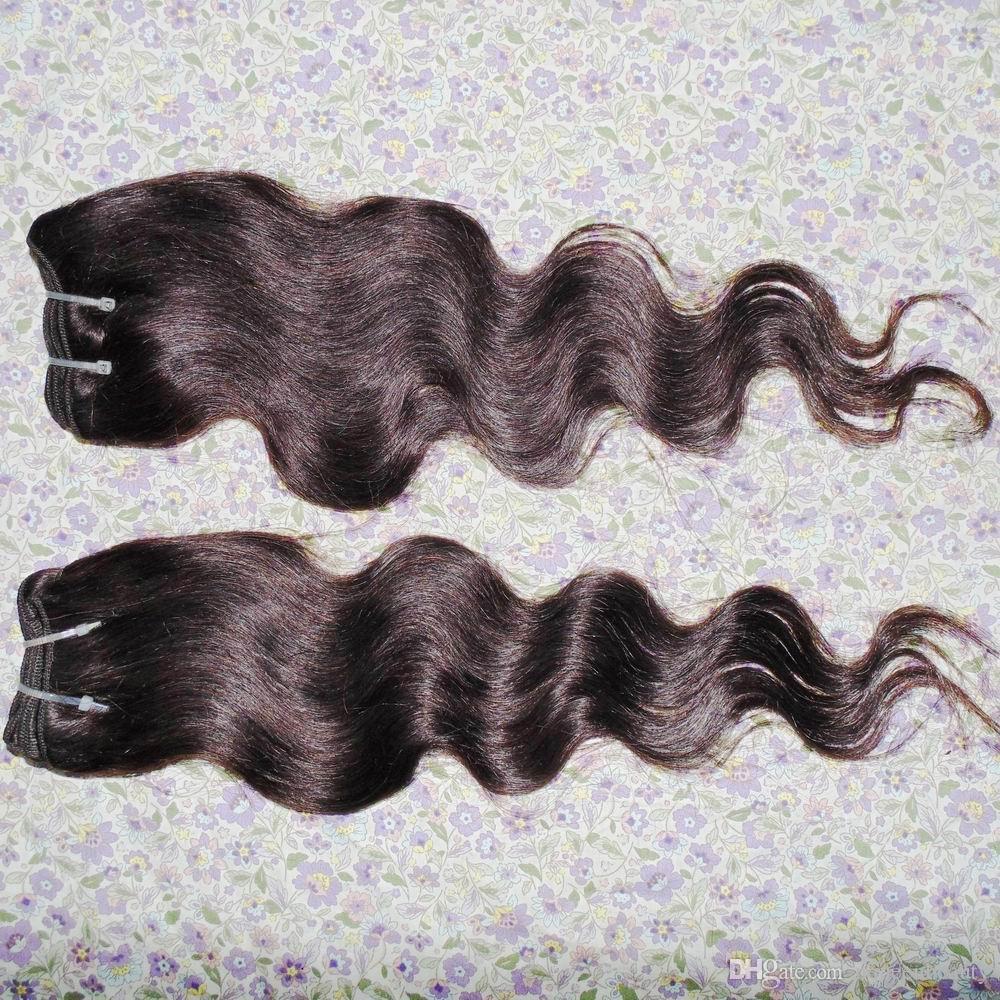 Boyalı Açık Kahverengi Insan Saç Uzatma 7A sınıf Perulu Vücut dalgalı 5 adet / grup Yumuşak Ipeksi Doku Seksi Lady Güzellik Alışveriş Sepeti Stok