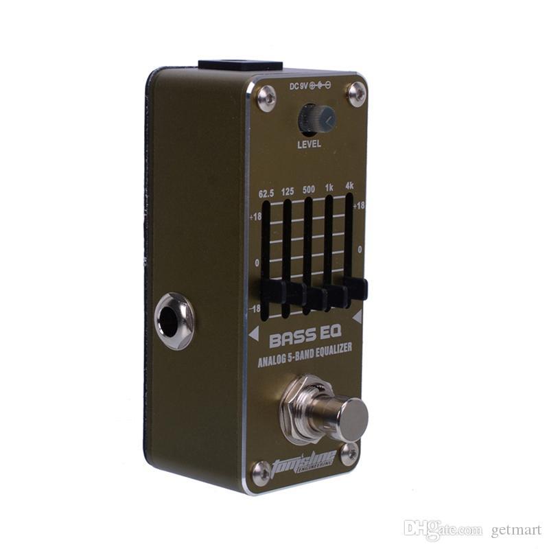 Neuer AROMA AEB-3 BASS EQ 5-Band-Bass-Equalizer Mini-Analogeffekt True Bypass
