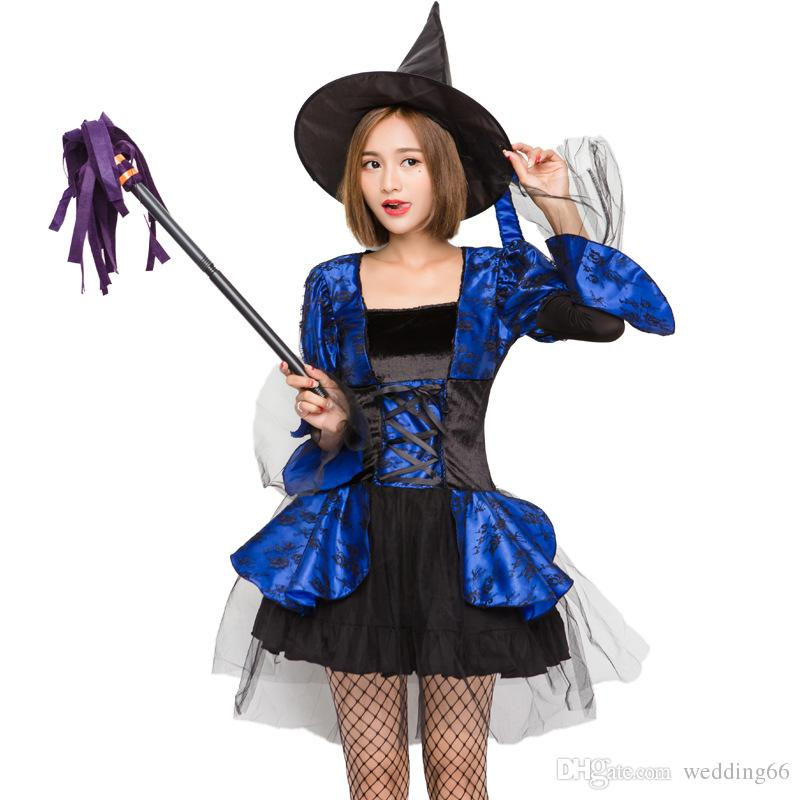 Cosplay Womenu0027S Cosplay Halloween Cosplay Costumes The Costume Of A Witch In A Blue Bandage Skirt Womens Costume Halloween Party Costumes From Wedding66 ...  sc 1 st  DHgate.com & Cosplay Womenu0027S Cosplay Halloween Cosplay Costumes The Costume Of A ...