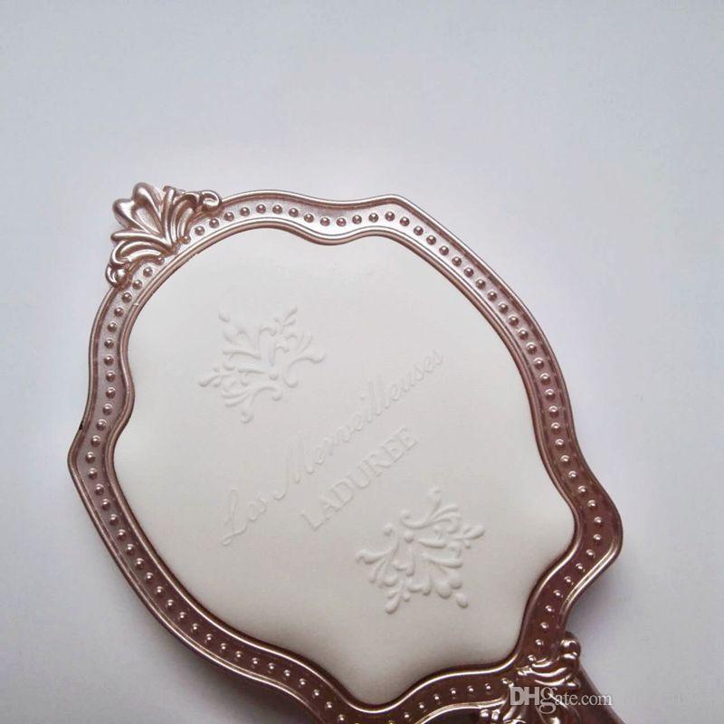 Fabrika fiyat LADUREE Les Merveilleuses EL SARı kozmetik Makyaj Princesspocket ayna Kompakt Vintage Japonya marka