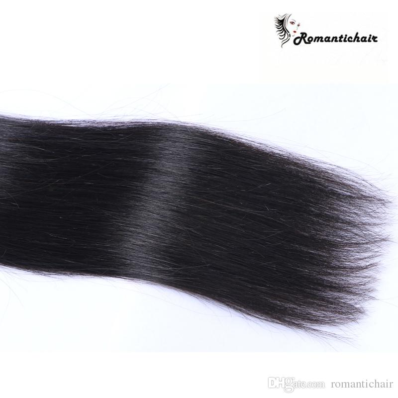 8A Peruvian Malaysian Indian Brazilian Virgin Hair Extensions Dyeable Natural Color Hair Bundles Straight Human Hair Weave Double Weft