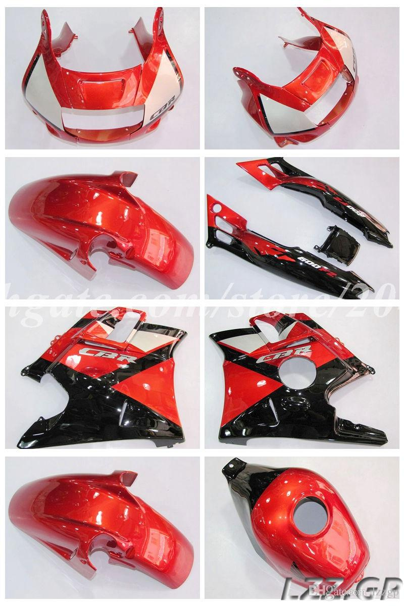 Red fairings + gifts for Honda CBR 600 F2 91-94 CBR600 F2 1991-1994 1992 1993 CBR600 F2 91 92 93 94 #g83j4 free gifts