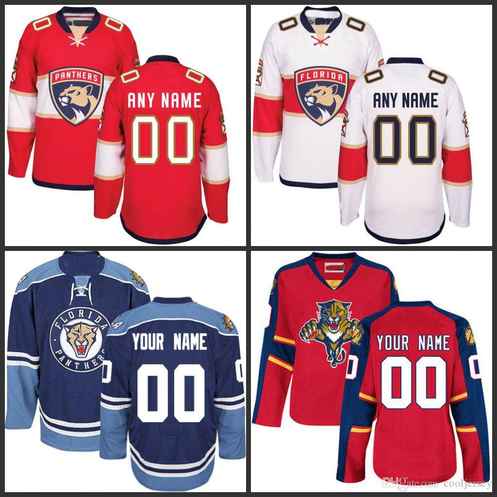 Customized Men S Florida Panthers Jerseys Authentic Personalized Hockey  Jerseys Any Number Any Name Embroidery Logos Top Quality UK 2019 From  Cooljersey 62985d68862
