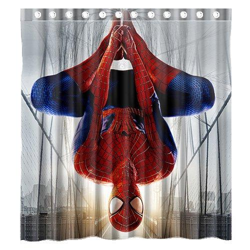 2019 Custom The Amazing Spiderman Shower Curtain Waterproof Bathroom Polyester Fabric Size 66 X 72 From Bestory 2219