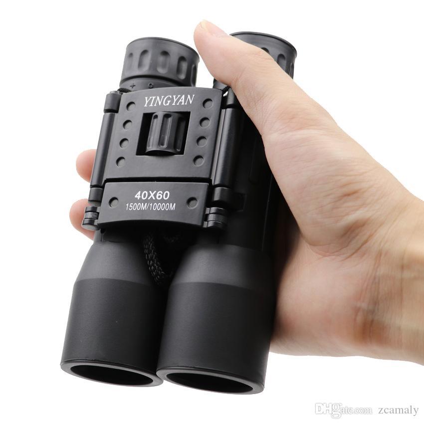 2018 Novo 40x60 binocular Zoom Field óculos Grande Handheld Telescópios DropShipping venda quente Profissional Poderoso binóculos marcas