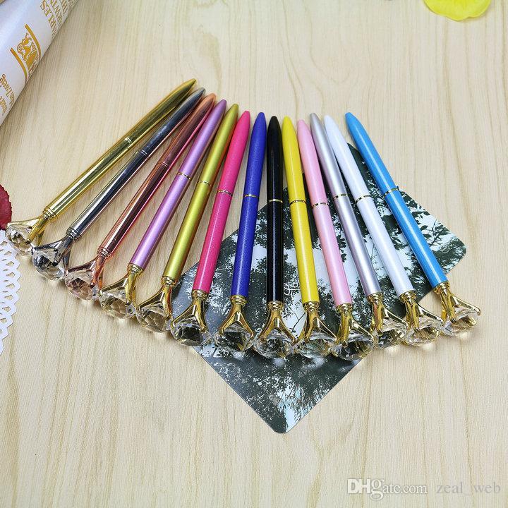 دي إتش إل فقط 19 قيراط الماس أقلام حبر جاف كريستال أقلام مدرسة الكتابة اللوازم المكتبية توقيع القلم شعار مخصصة