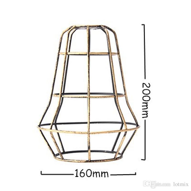 Rétro Vintage Edison Pendentif Lumière Ampoule Garde En Fer Fil Cage Plafond Suspendus Barre D'appareillage Cafe Abat-Jour DIY Lampe Base