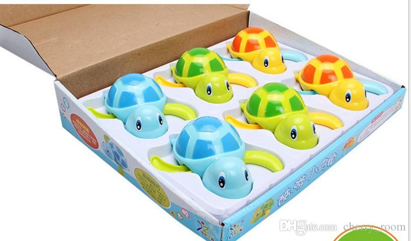 Cartoon kids bathing toys Tortoise Baby Bath Toy Infant Swim Turtle Chain Clockwork Classic Toys Baby Educational water fun Toys C1427