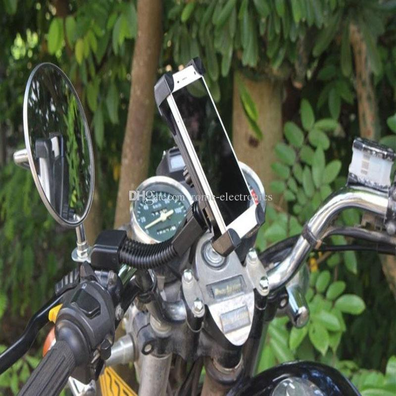 """Strong 3.5-7"""" cell phone motorcycle rearview mirror mounting bracket for iPhone 6/6S holder"""