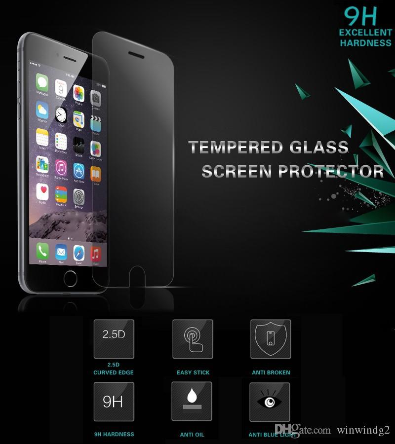 Tempered Glass Screen Protector Film For Apple iphone 7 6 6S 5 Toughened Protective Guard IPhone Screen Protector
