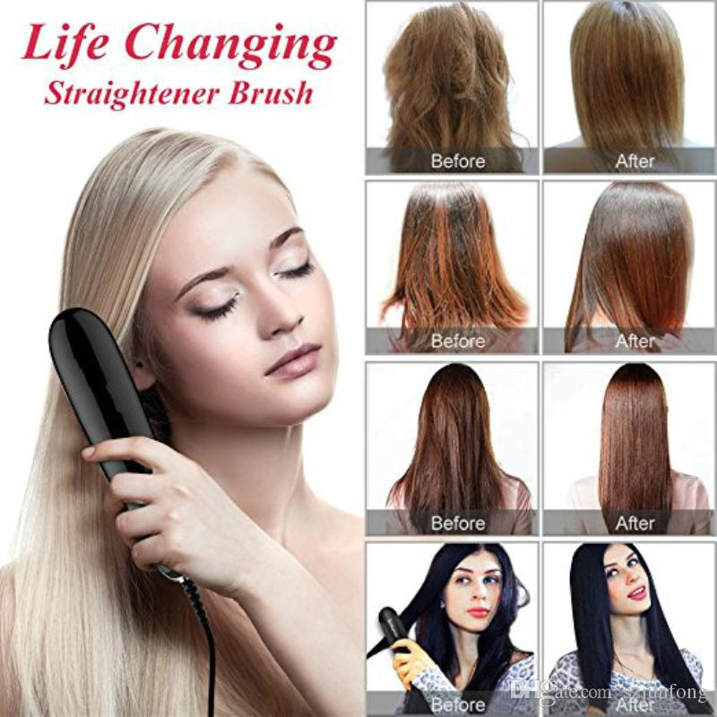 Mini Hair Straightener Brush Suitable Various Hairstyles People ...