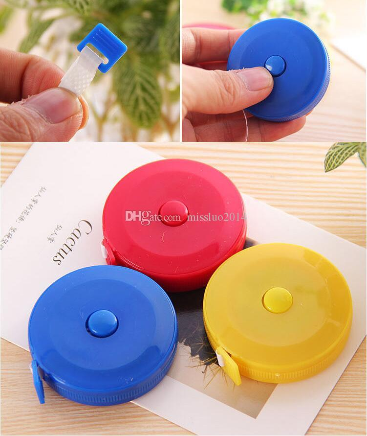 Wholesale Multicolor 60 inch New Retractable Ruler Tape Measure 1.5M for Measures Sewing Cloth Dieting Tailor Promotion Via DHL FEDEX