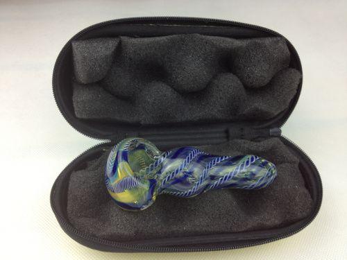 Coque en verre Mélange Couleurs Fumer Petite boîte de rangement colorée pour une tuyau de cuillère à main de 3