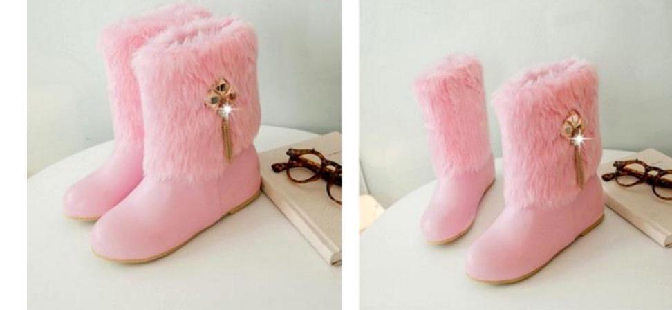 2017, зимний стиль с пушистые женские короткие сапоги корейской версии зимы с бархатными сапогами