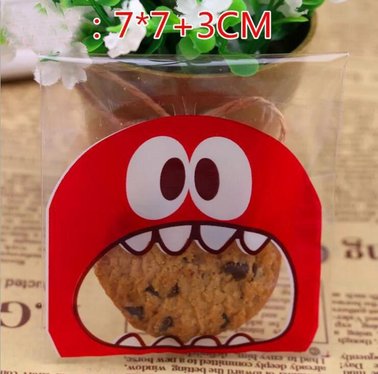 Colorful Self Adhesive Bag Retail Package Bags For Cookies Cake bread Dessert Candy Gift Packing Wedding Party Supplies