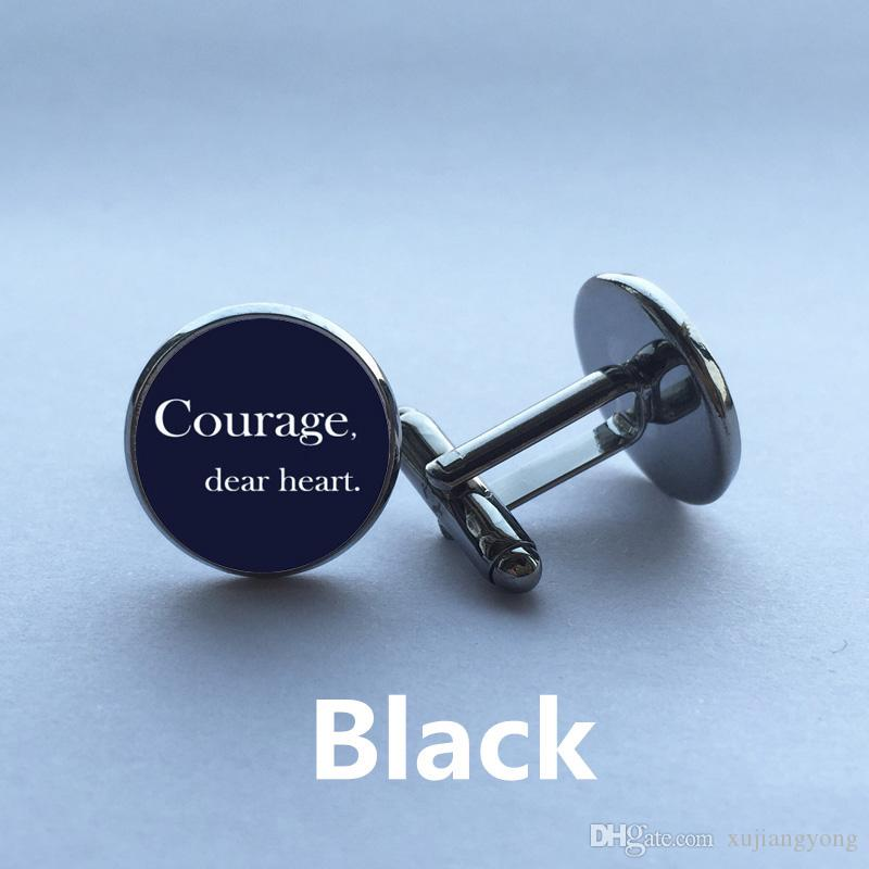 Courage, Dear Heart, C.S Lewis, Lucy Pevensie, Narnia Quo Cufflinks Gifts For Men Gift for Dad Gift for Husband Fathers Day Gift