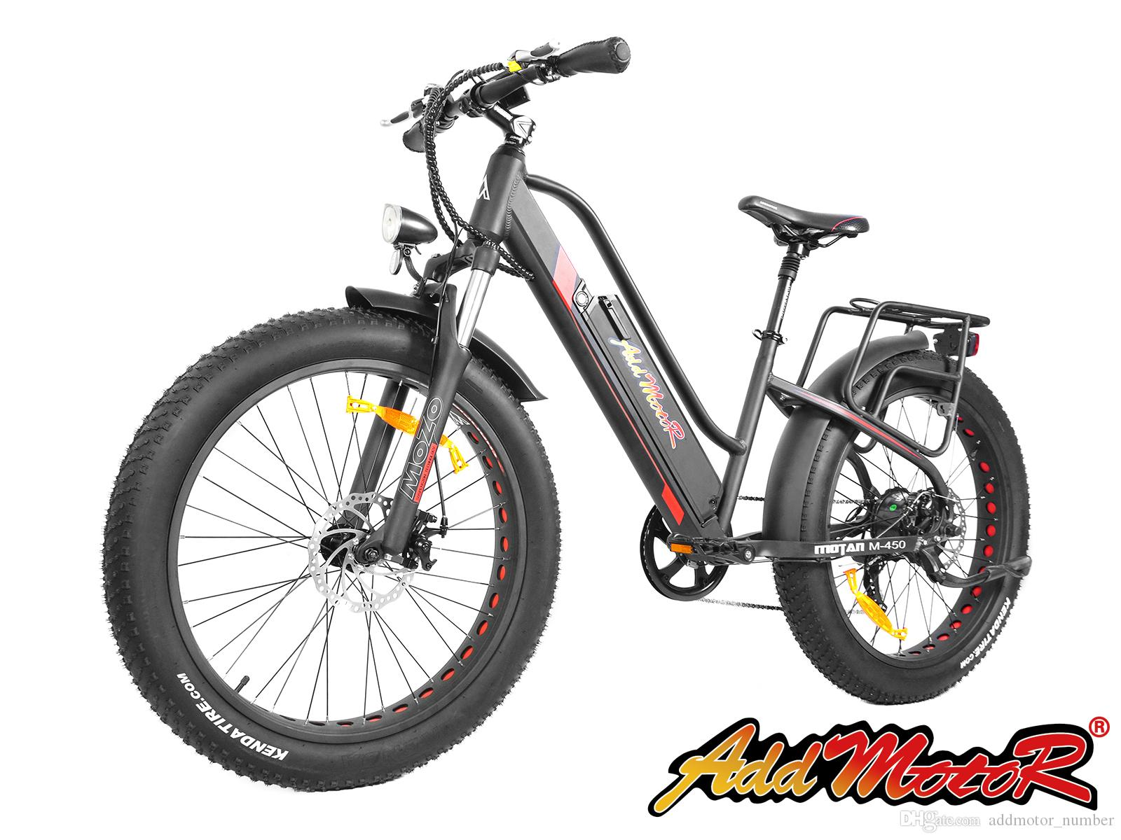 2018 Addmotor Motan Electric Bicycles 26inch Fat Tire 500w All