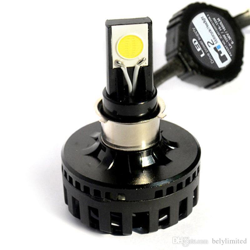 Personalizzato 12v 24v 8-36 v Hi Lo Beam auto h4 LED Faro Lampadine Luci di guida del motociclo LED COB Chip Head Lights