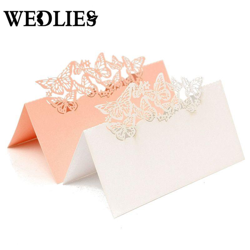 Wholesale Paper Wedding Vine Seat Cards Laser Cut Name Place Card
