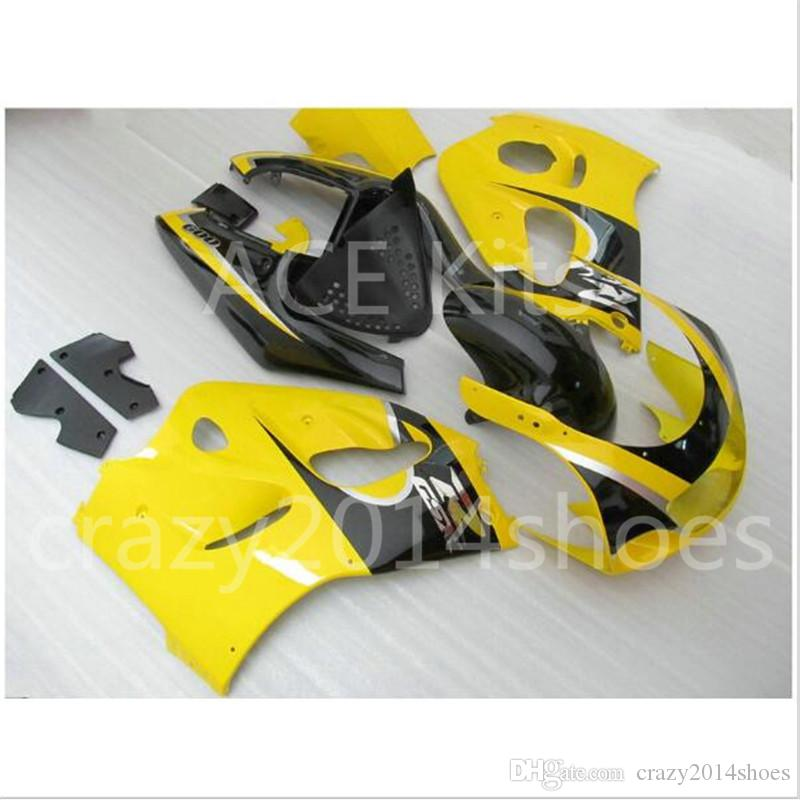 Free Gifts New motor Fairing Kit Fit For SUZUKI SRAD GSXR750 GSXR600 96-00 1996 1997 1998 1999 2000 R600 R750 bodywork black and yellow No.4