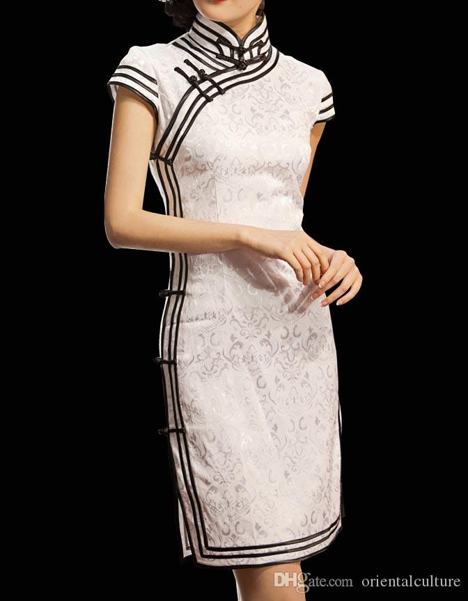 cfbeaa7be Chinese Cheongsam Qipao Gown Vintage Cocktail Dress Asian Fashion Chic #  101 Dresses Evening Special Occasion Dress From Orientalculture, $75.64|  DHgate.Com