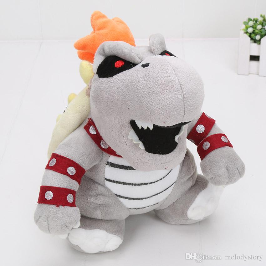 24cm Super Mario 3D Land Bone Kubah dragon Plush Toy Bolster plush soft stuffed dolls Dry Bones Bowser Koopa