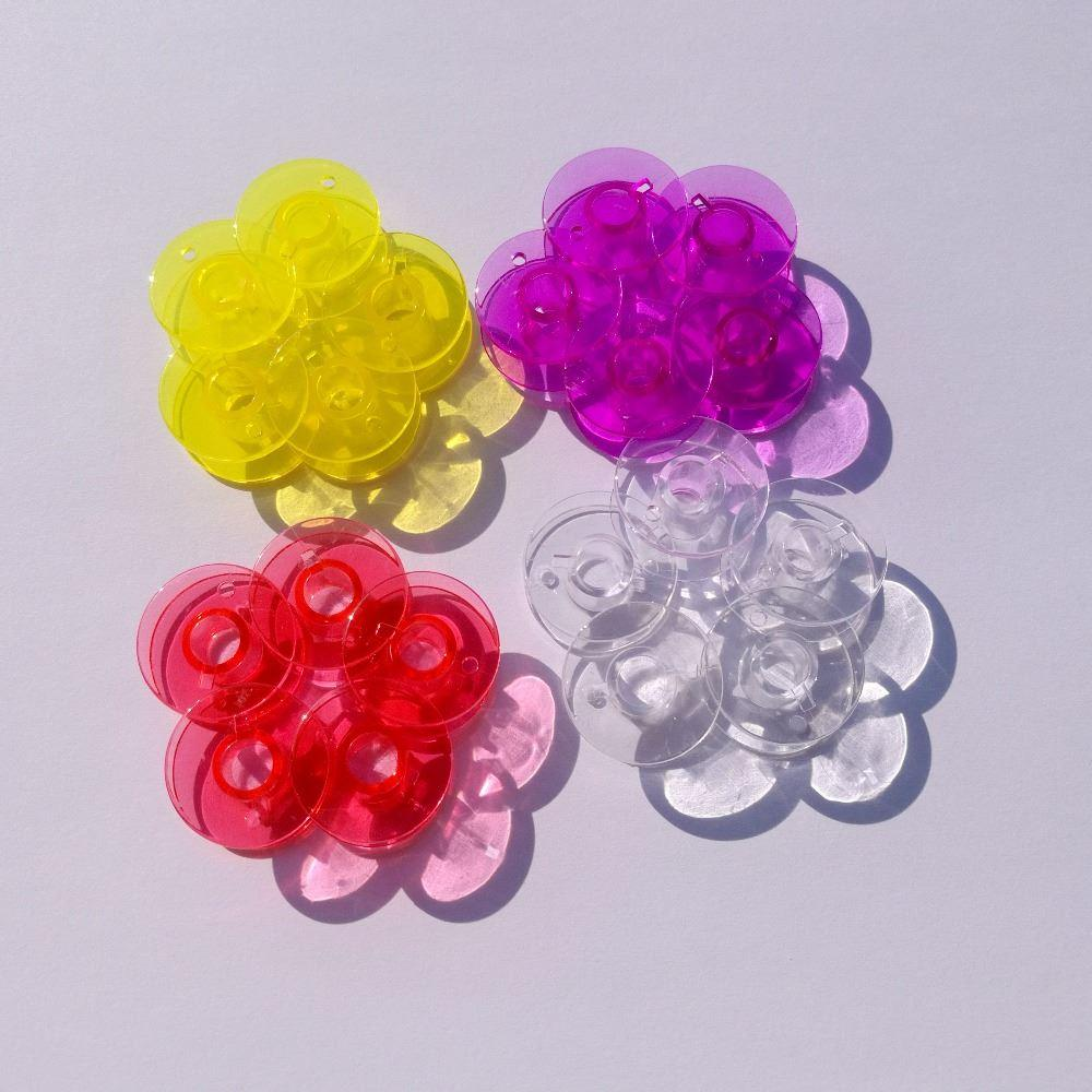 10pcs Empty Colorful Bobbins Spool bobbin for Brother Janome Singer Elna Sewing Machine DIY tools