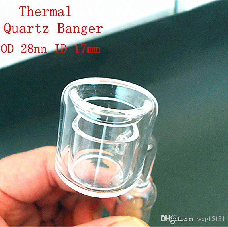 Latest Design Double Tube honey buckets Quartz nail Club banger Dab Rigs Bong nail domeless nail With 90 Degree Bend 18 mm 14mm Male Female
